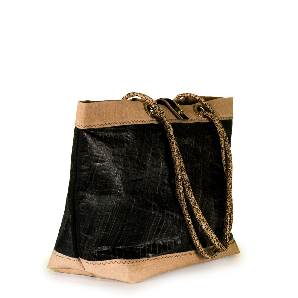 Tote bag Delta black and beige (45) by JM Sails and Bags