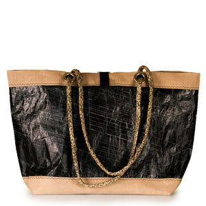 Tote bag Delta black and beige (BS) by JM Sails and Bags