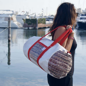 Duffel bag Alfa large, by JM Sails and Bags live model
