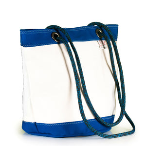 SHOULDER BAG LIMA LARGE, WHITE / BLUE BY JM SAILS AND BAGS (45)