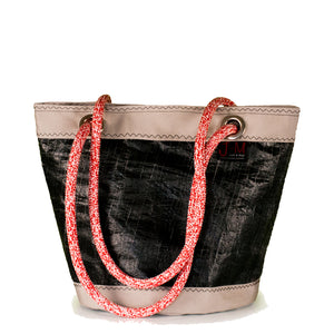SHOULDER BAG LIMA MEDIUM, Black 3Di /beige (FS) , J-M Sails and Bags
