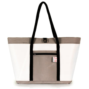 Tote bag Mike, white and grey, (FS) J-M Sails and Bags