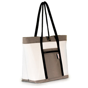 Tote bag Mike, white and grey, (45) J-M Sails and Bags