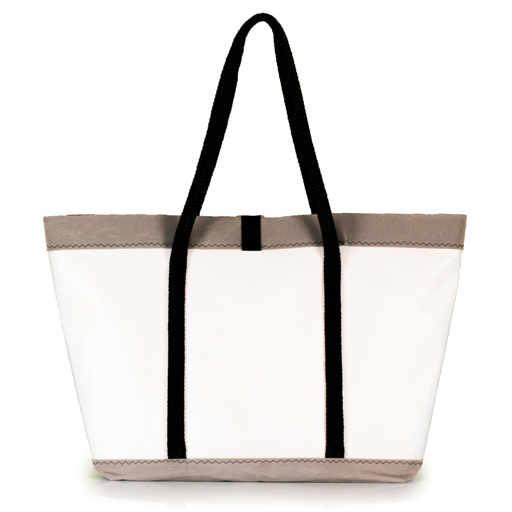 Tote bag Mike, white and grey, (BS) J-M Sails and Bags