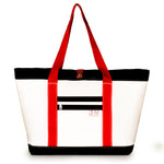 TOTE MIKE, WHITE AND BLACK (FS) J-MSails and Bags