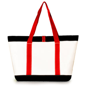 TOTE MIKE, WHITE AND BLACK (BS) J-MSails and Bags