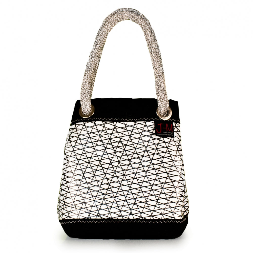Handbag Foxtrot, carbon / black / white (FS) closed J-M Sails and Bags