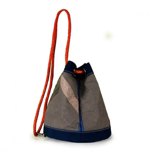 Bucket bag India, grey / blue / #5 (45) J-M Sails and Bags  Edit alt text