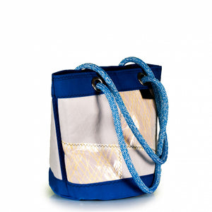 Load image into Gallery viewer, Shoulder bag Lima medium, patchwork / electric blue (45) J-M Sails and Bags
