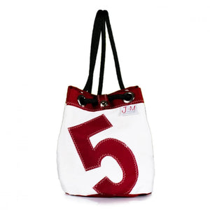 Shoulder bag Charlie, white and red (FS) J-M Sails and Bags