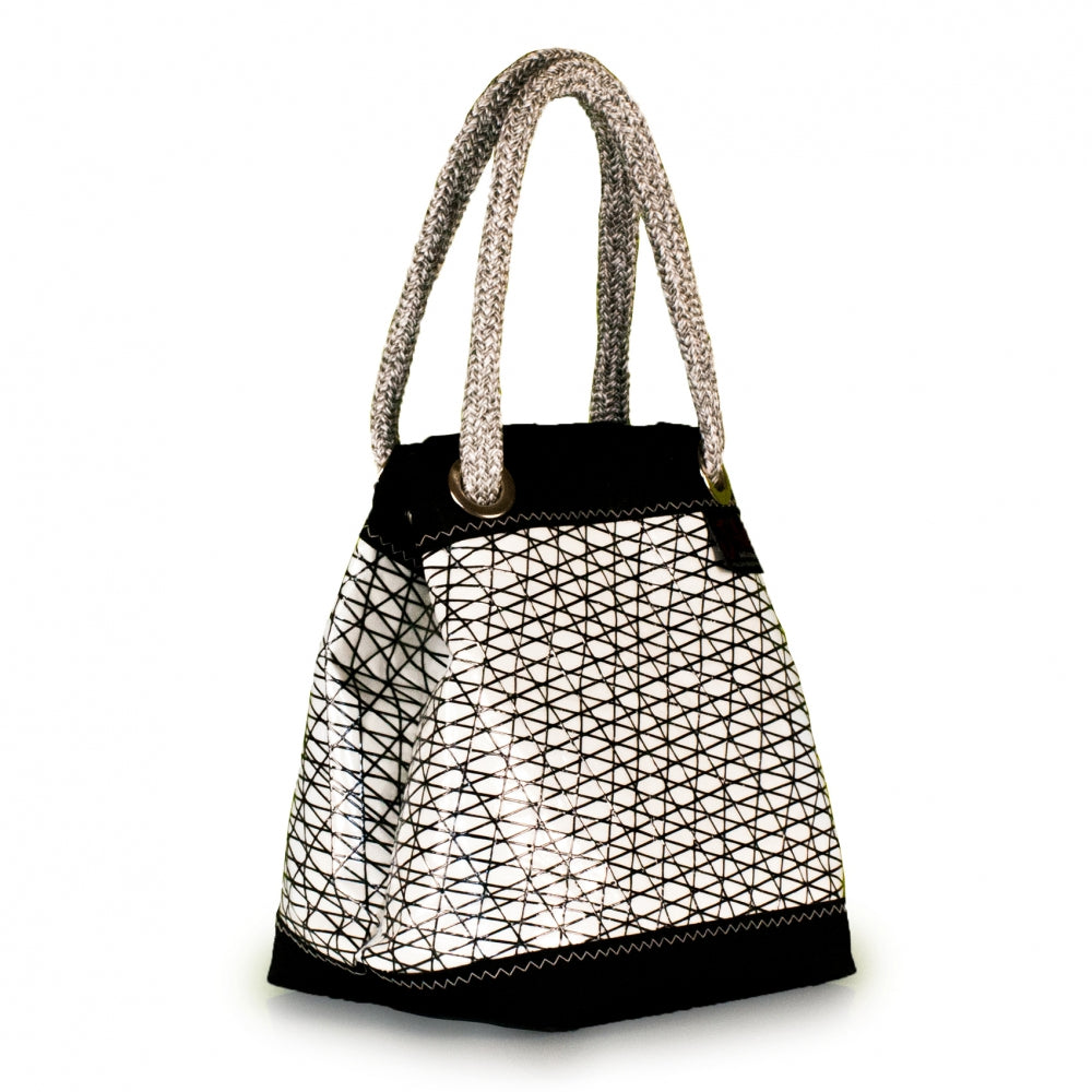 Handbag Foxtrot, carbon / black / white (45) J-M Sails and Bags  Edit alt text