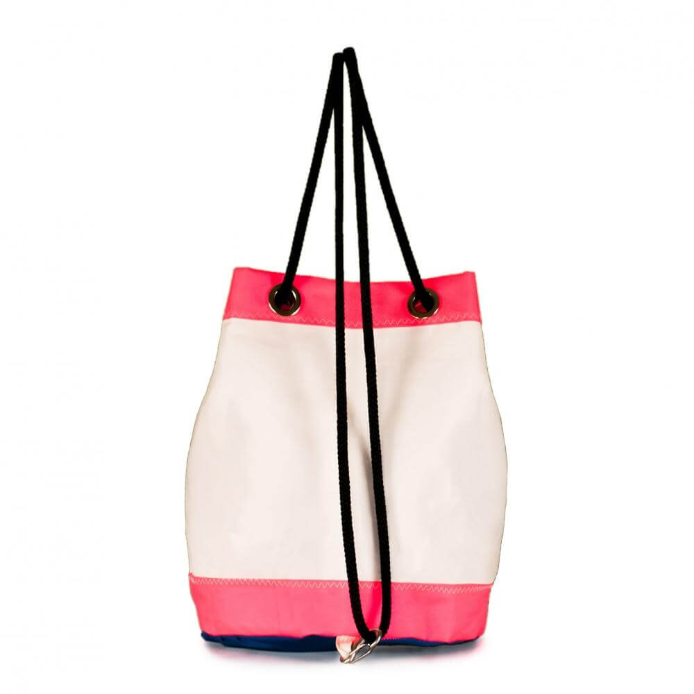 Bucket bag India white / pink (BS) J-M Sails and Bags  Edit alt text