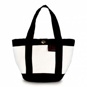 Laden Sie das Bild in den Galerie-Viewer, Handbag Tango white and black (FS) J-M Sails and Bags