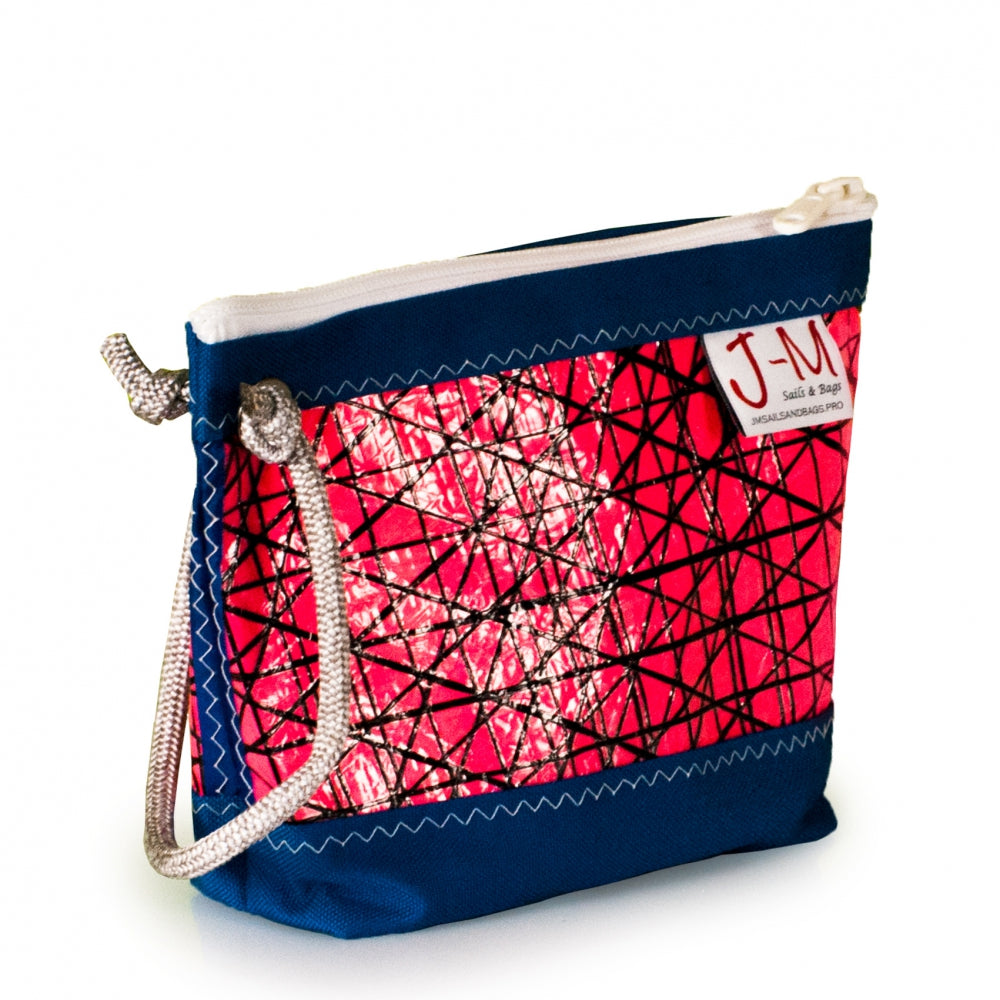 Pouch Hotel, technora / pink / blue (45) J-M Sails and Bags