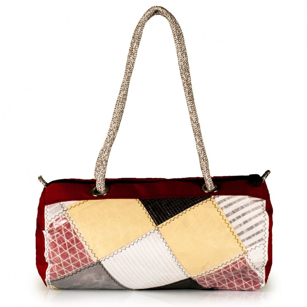 Handbag ECHO, patchwork / red (BS) J-M Sails and Bags