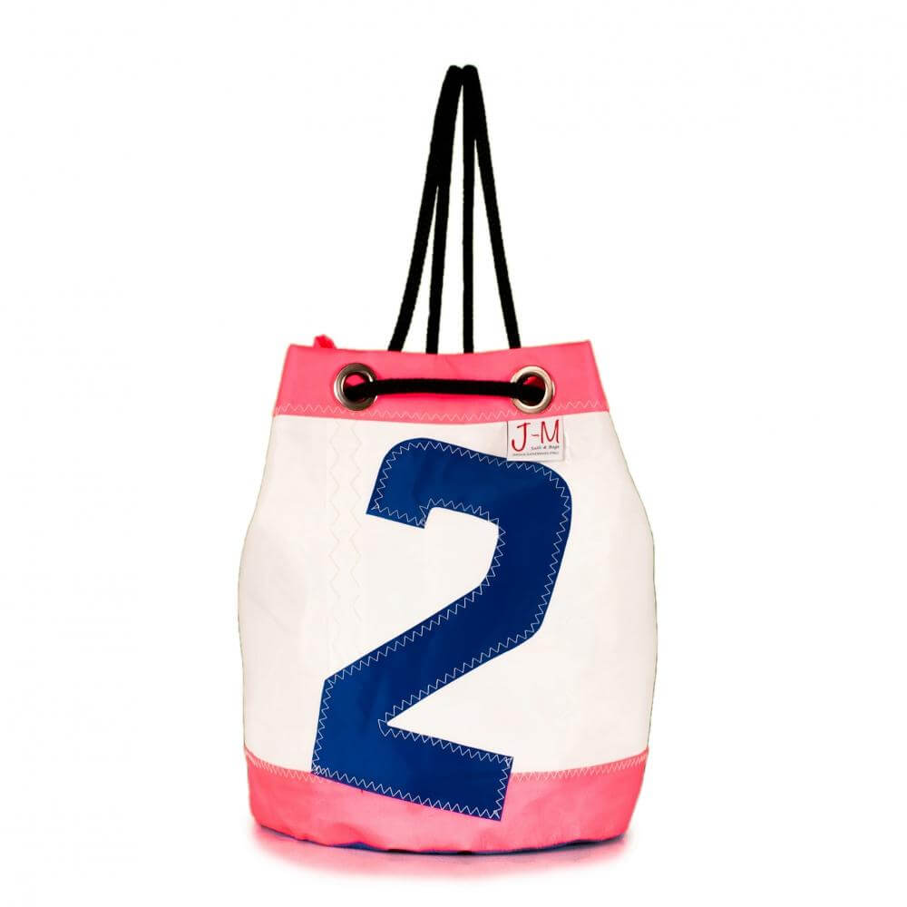 Bucket bag India white / pink (FS) J-M Sails and Bags