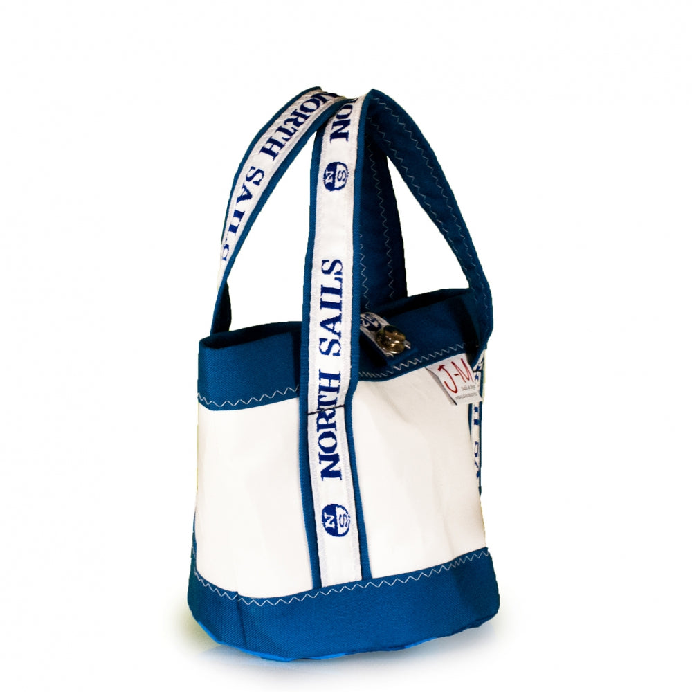 Load image into Gallery viewer, Handbag Tango white and blue (45) J-M Sails and Bags