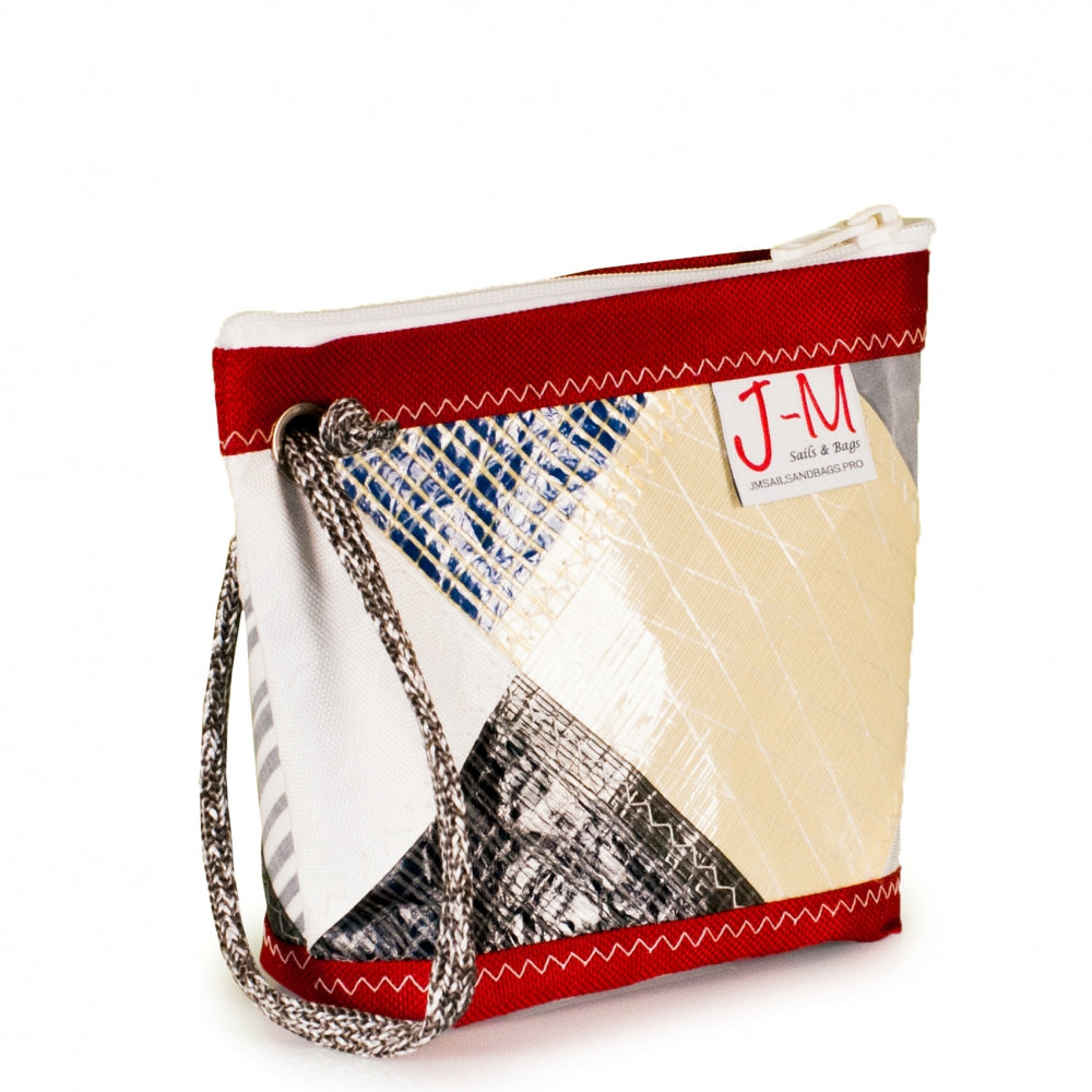 Pouch Hotel, patchwork / red (45) J-M Sails and Bags