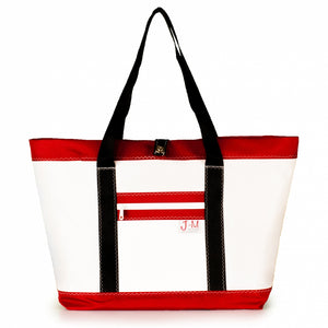 Tote Mike, white and red (FS) J-M Sails and Bags