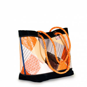 Shopping tote Delta, patchwork / orange (45) J-M Sails and Bags