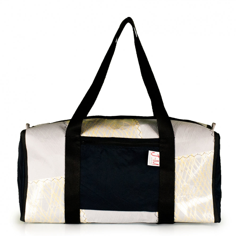 Duffel Bravo Medium, patchwork / kevlar / navy (FS) J-M sails and Bags