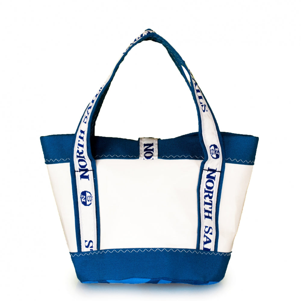 Load image into Gallery viewer, Handbag Tango white and blue (BS) J-M Sails and Bags