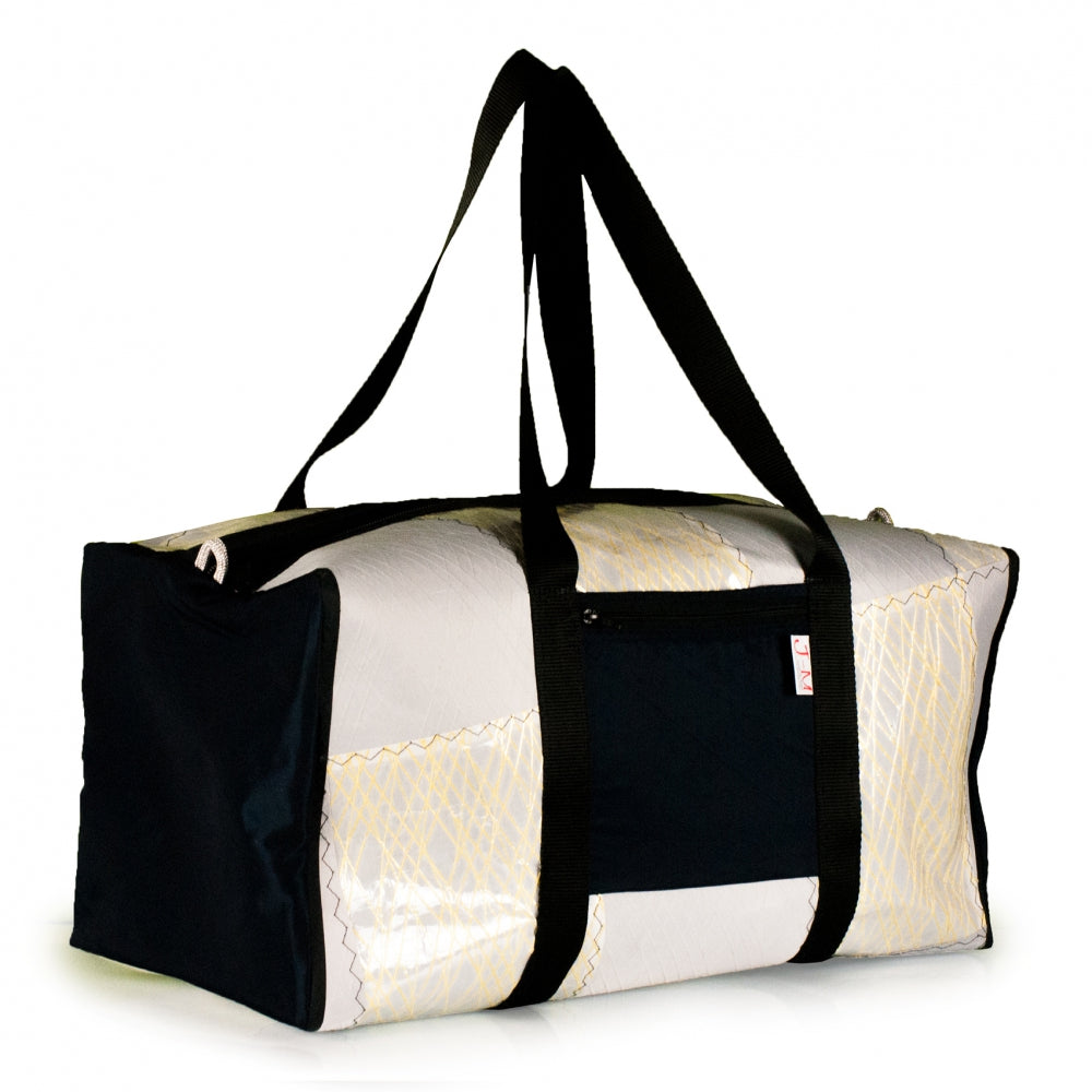 Duffel Bravo Large, patchwork / kevlar / navy blue (45), J-M Sails and Bags