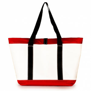 Tote Mike, white and red (BS) J-M Sails and Bags