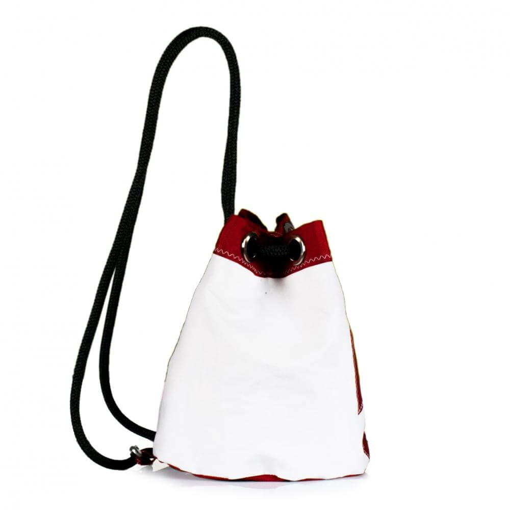 Shoulder bag Charlie, white and red (45) J-M Sails and Bags