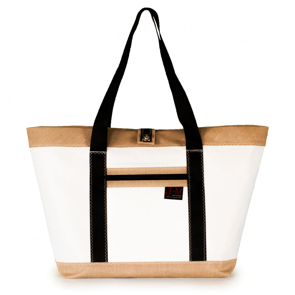 Tote Mike, white and beige (FS) J-M Sails and Bags