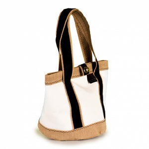 Handbag Tango white and beige (45°) J-M Sails and Bags