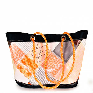 Shopping tote Delta, patchwork / orange (BS) J-M Sails and Bags