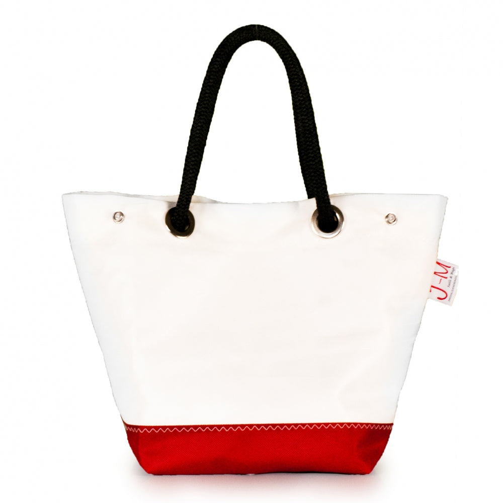 Handbag Foxtrot, dacron / red (FS) open J-M Sails and Bags  Edit alt text