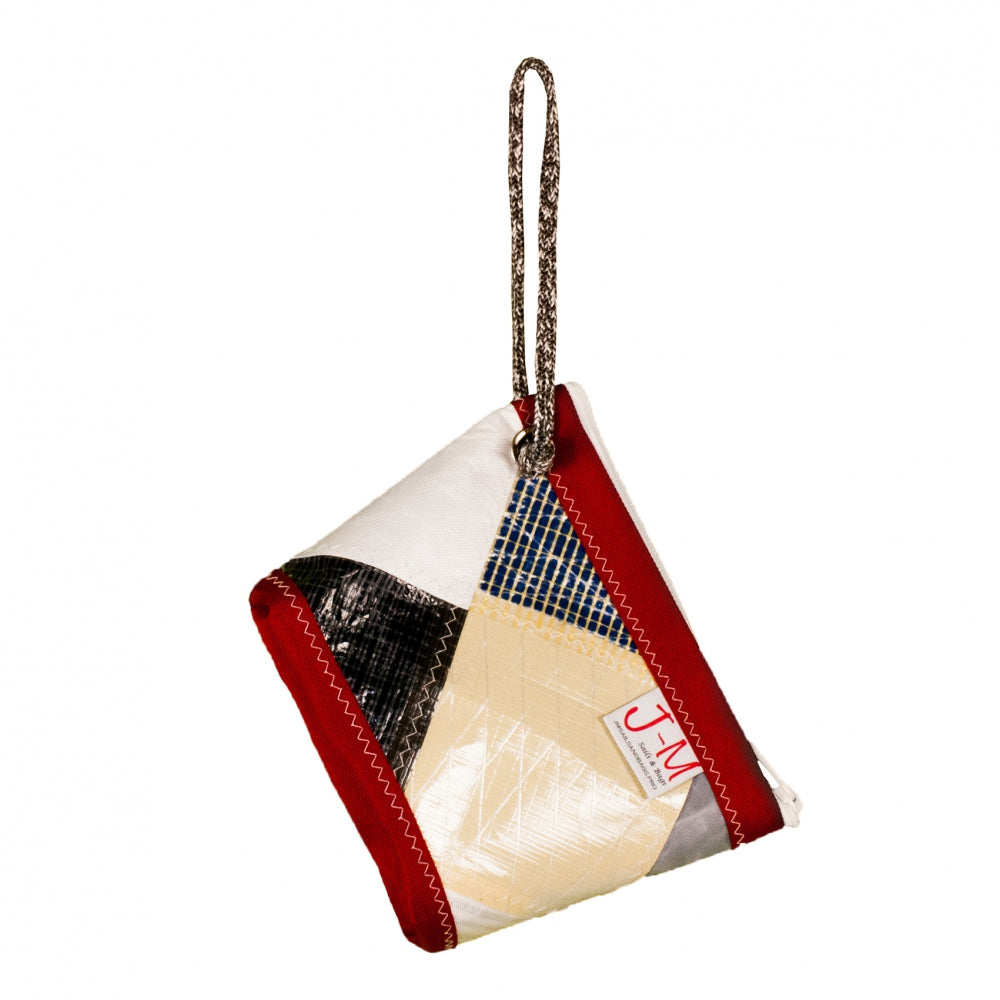 Pouch Hotel, patchwork / red (FS) J-M Sails and Bags