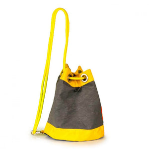 Shoulder bag Charlie, grey, yellow, navy blue (45) J-M Sails and Bags