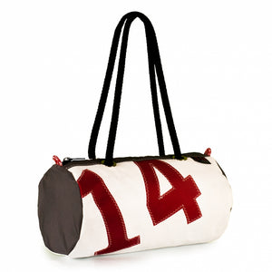 Handbag ECHO, dacron / grey / red 14, (45) J-M Sails and Bags