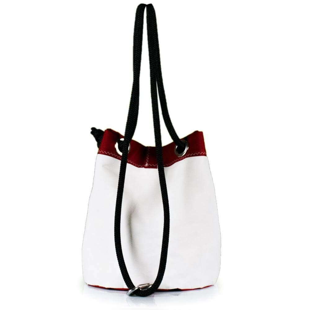Shoulder bag Charlie, white and red (BS) J-M Sails and Bags