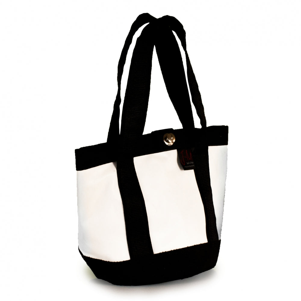 Laden Sie das Bild in den Galerie-Viewer, Handbag Tango white and black (45) J-M Sails and Bags