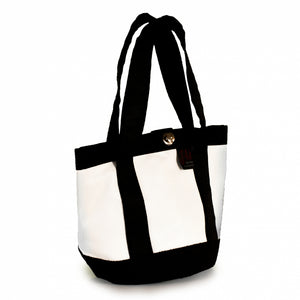 Load image into Gallery viewer, Handbag Tango white and black (45) J-M Sails and Bags