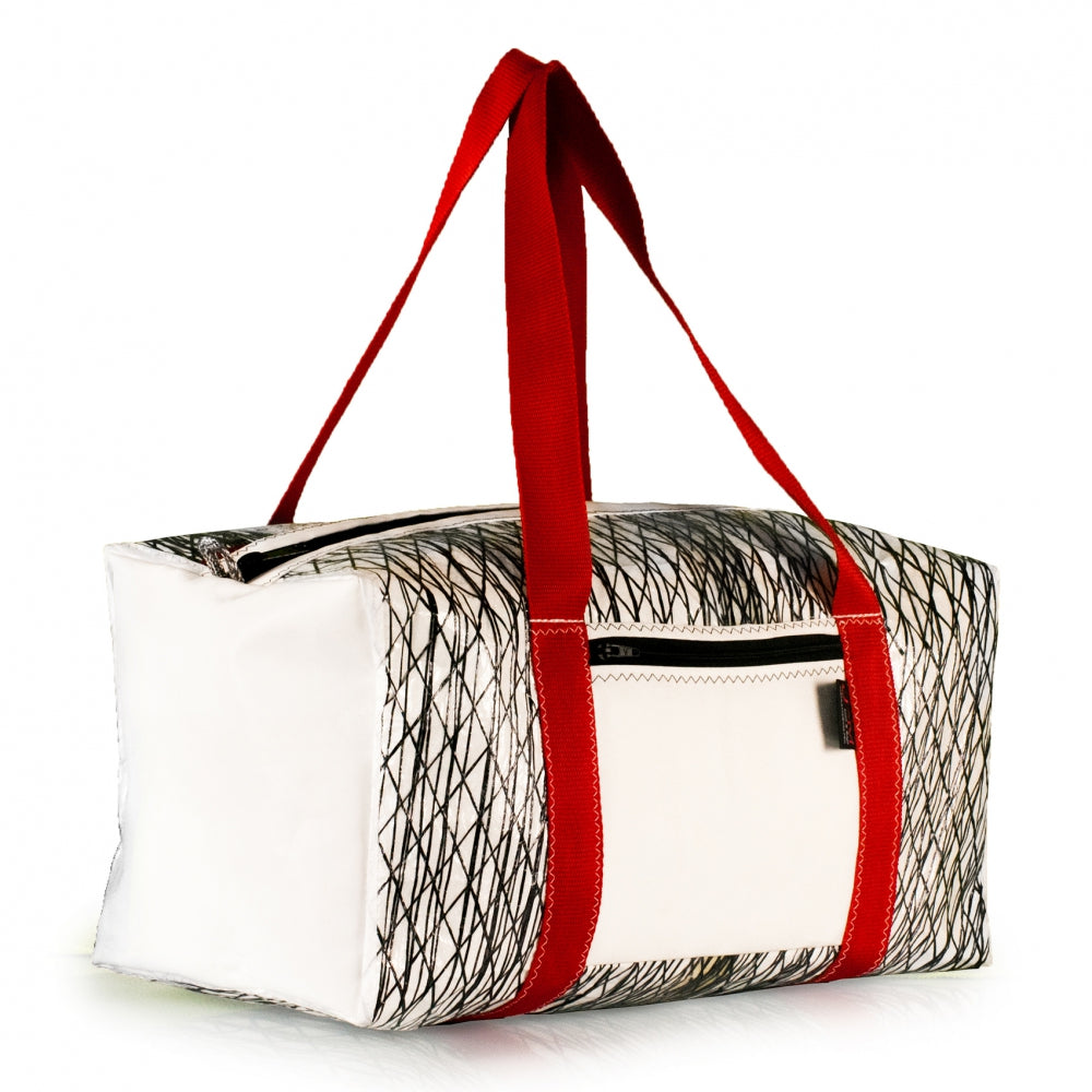 Charger l'image dans la galerie, Duffel bag Bravo Medium, Technora, white dacron - JM Sails and Bags