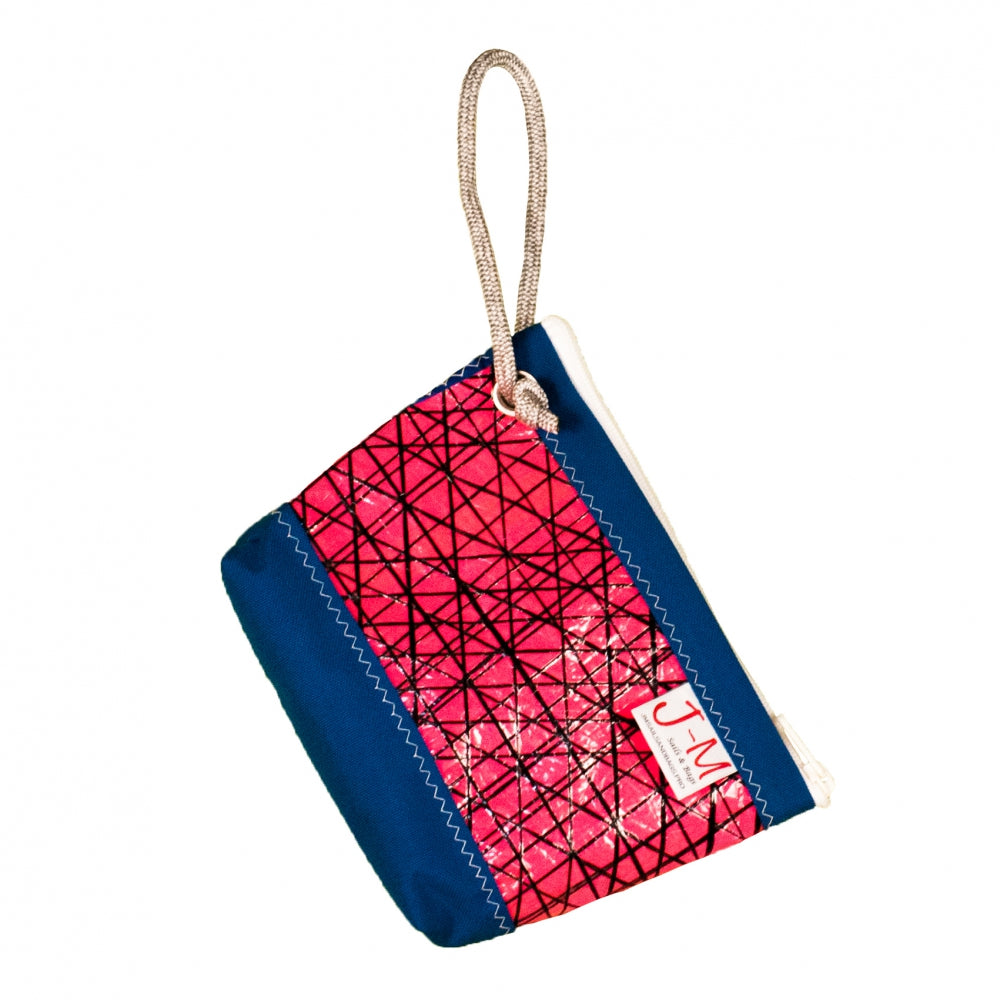 Pouch Hotel, technora / pink / blue (FS) J-M Sails and Bags