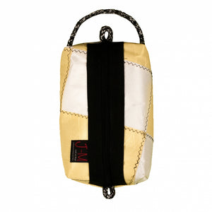 Toiletry bag Golf medium, patchwork / white / yellow (BS) J-M Sails and Bags