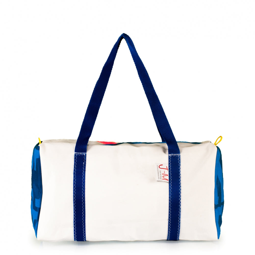 Duffel bag Bravo Small white / blue / Optimist logo (FS) J-M Sails and Bags
