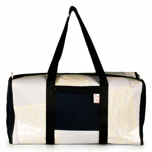 Duffel Bravo Large, patchwork / kevlar / navy blue (FS), J-M Sails and Bags