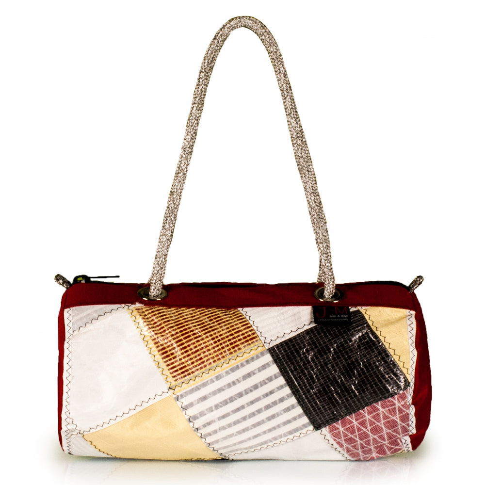 Handbag ECHO, patchwork / red (FS) J-M Sails and Bags  Edit alt text
