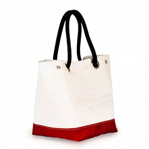 Handbag Foxtrot, dacron / red (45) open J-M Sails and Bags  Edit alt text