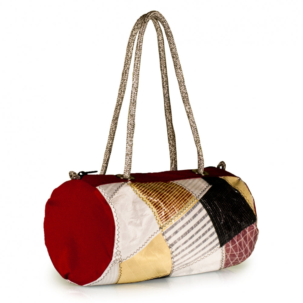 Handbag ECHO, patchwork / red (45) J-M Sails and Bags