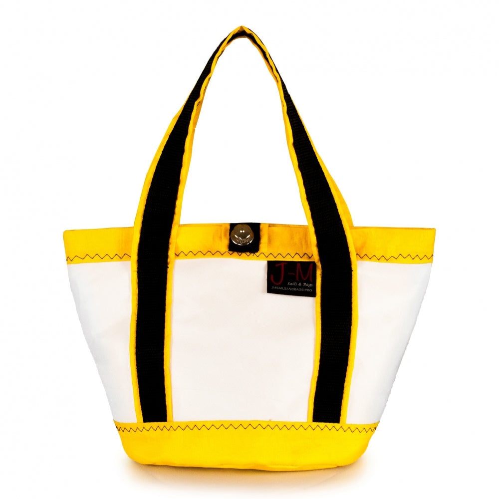 Handbag Tango white and yellow (FS) J-M Sails and Bags
