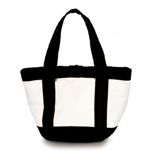 Laden Sie das Bild in den Galerie-Viewer, Handbag Tango white and black (BS) J-M Sails and Bags