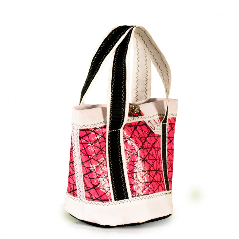Handbag Tango,technora / pink / white / black (45°) J-M Sails and Bags